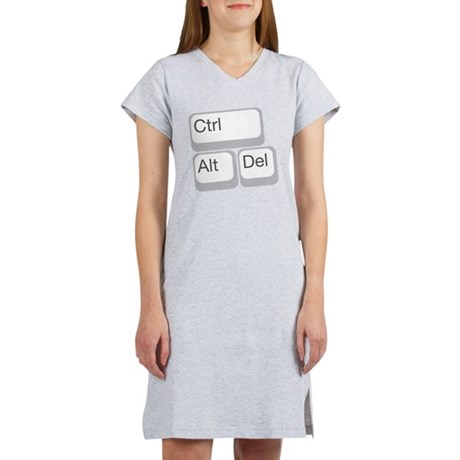 cntrl alt delete Women's Nightshirt