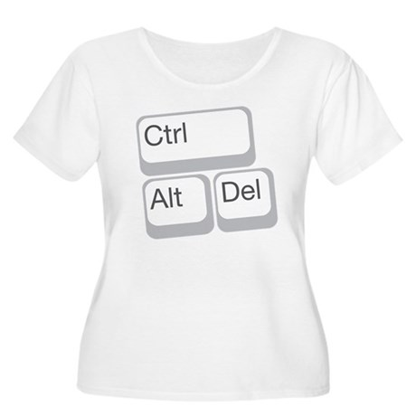 cntrl alt delete Women's Plus Size Scoop Neck T-Sh
