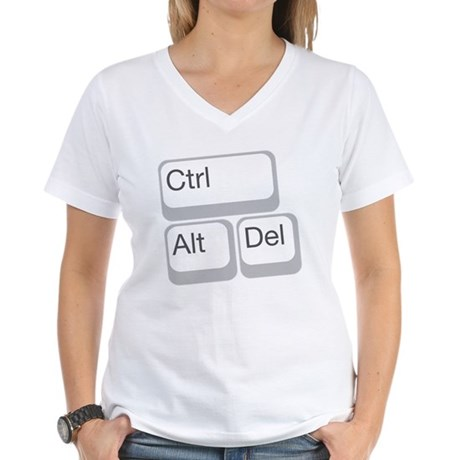 cntrl alt delete Women's V-Neck T-Shirt