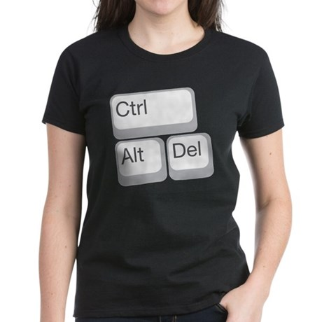 cntrl alt delete Women's Dark T-Shirt