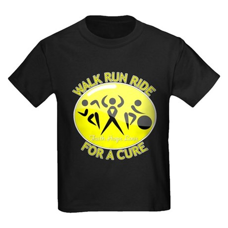 Sarcoma Cancer Walk Run Ride Kids Dark T-Shirt