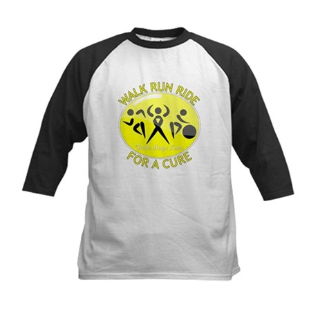 Sarcoma Cancer Walk Run Ride Kids Baseball Jersey