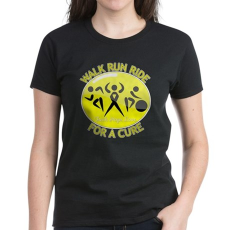 Sarcoma Cancer Walk Run Ride Women's Dark T-Shirt