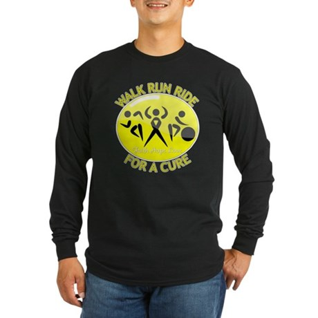 Sarcoma Cancer Walk Run Ride Long Sleeve Dark T-Sh