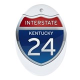 Interstate 24 - Kentucky Ornament (Oval)