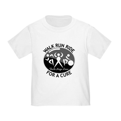 Melanoma Cancer Walk Run Ride Toddler T-Shirt