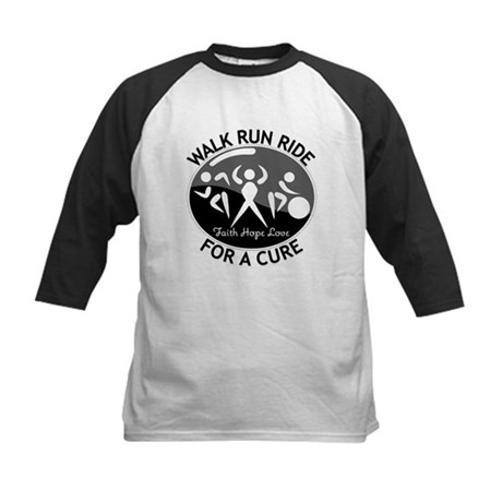 Melanoma Cancer Walk Run Ride Kids Baseball Jersey