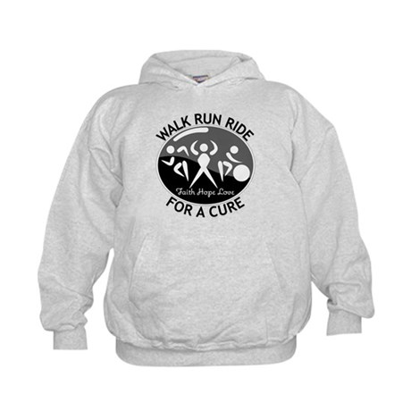 Melanoma Cancer Walk Run Ride Kids Hoodie