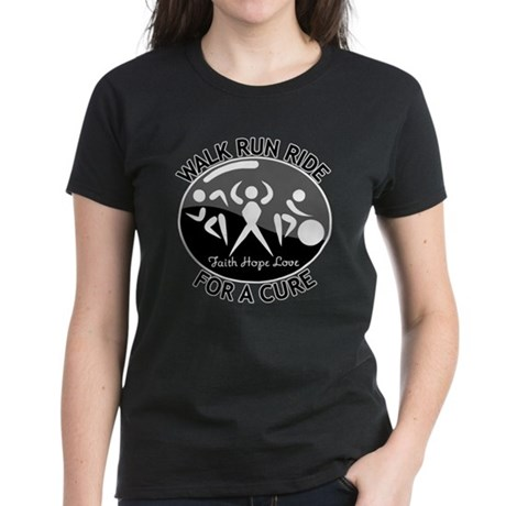 Melanoma Cancer Walk Run Ride Women's Dark T-Shirt
