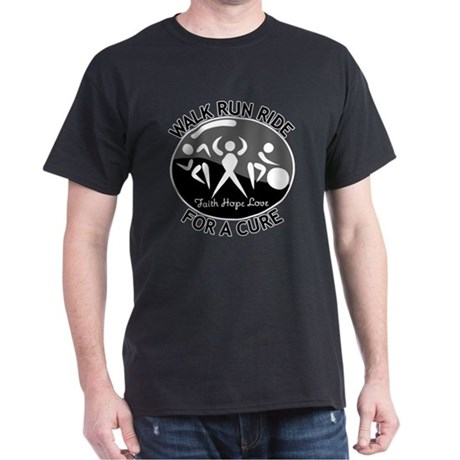 Melanoma Cancer Walk Run Ride Dark T-Shirt