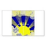 Easter Sunrise Sticker (Rectangle)