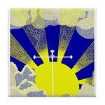 Easter Sunrise Tile Coaster