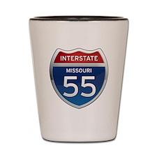 Interstate 55 - Missouri Shot Glass