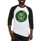 Green/Black Army Retired Baseball Jersey