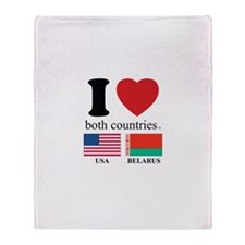 USA-BELARUS Throw Blanket