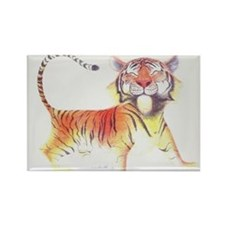 Cute Tiger Rectangle Magnet (10 pack)