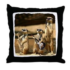 Meerkat Trio Throw Pillow