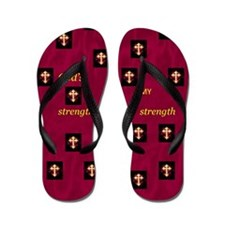 Flip Flops God's Strength Is My Strength
