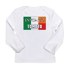 Potato Tomato Irish-Italian Long Sleeve Infant T-S