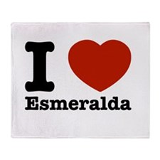 I love Esmeralda Throw Blanket