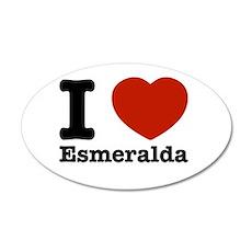 I love Esmeralda 38.5 x 24.5 Oval Wall Peel