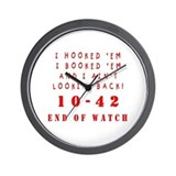 Retirement police officers Wall Clocks