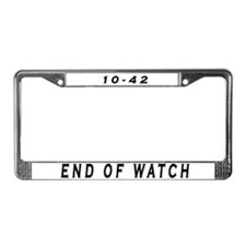 Unique Retired police License Plate Frame
