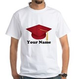Personalized Red Graduation Cap Shirt