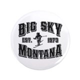 "Big Sky Black & Silver 3.5"" Button"