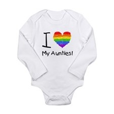 Cute Lesbian aunts Long Sleeve Infant Bodysuit