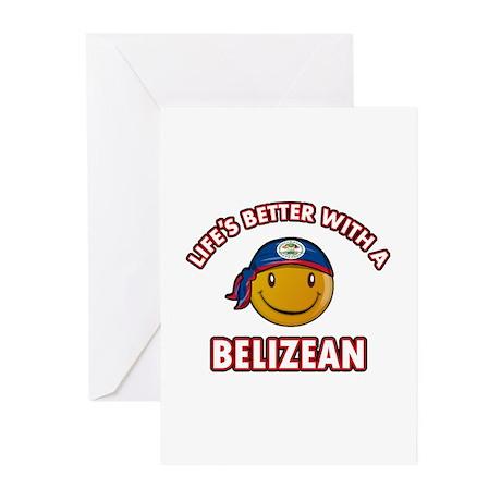Cute Belizean designs Greeting Cards (Pk of 20)