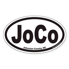 Johnston County JOCO Euro Oval Decal