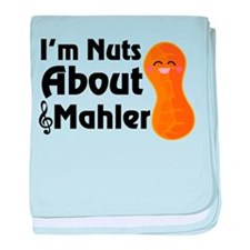 Nuts About Mahler baby blanket