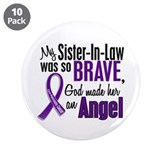 "Angel 1 Pancreatic Cancer 3.5"" Button (10 pack)"