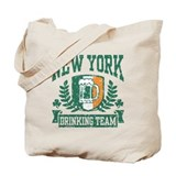 New York Irish Drinking Team Tote Bag
