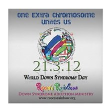 World Down Syndrome Day 2012 Tile Coaster