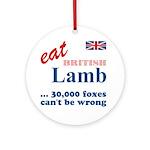 Slam in the Lamb Ornament (Round)