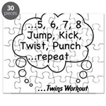 Twins Workout Under This Puzzle
