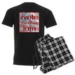 Think, Vote, Be with this Men's Dark Pajamas