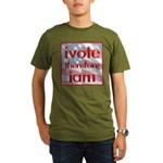Think, Vote, Be with this Organic Men's T-Shirt (d