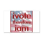 Think, Vote, Be with this Car Magnet 20 x 12