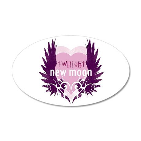 New Moon Pink Heart by Twibaby 22x14 Oval Wall Pee
