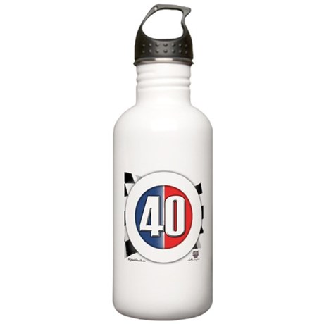 40 Cars logo Stainless Water Bottle 1.0L