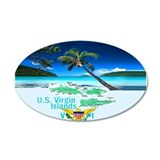 VIRGIN ISLANDS 22x14 Oval Wall Peel