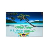 VIRGIN ISLANDS Rectangle Magnet (100 pack)