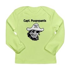 Captain Poopypants Long Sleeve Infant T-Shirt