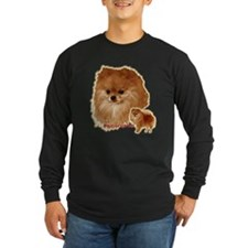 Pomeranian head and body T