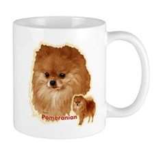 Pomeranian head and body Mug