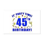 45th Birthday Party Time Mini Poster Print