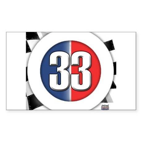33 Cars Logo Sticker (Rectangle)